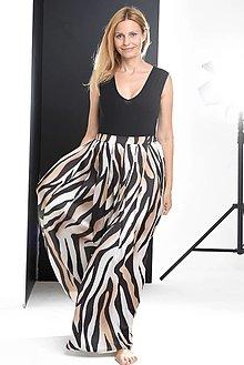 Sukne - Zebra nazberaná sukňa - 13604704_