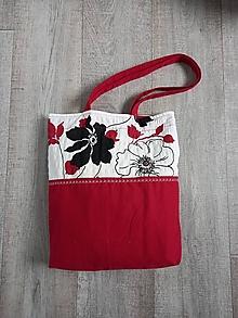 Nákupné tašky - Nákupná taška bordová - 13605066_