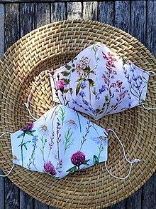 Rúška - Rúško kvetinové, dámske UNI - 13606386_