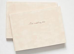 Papiernictvo - Fotoalbum/Svadobná kniha hostí - Náš svadobný deň - 13606730_