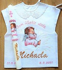 Detské oblečenie - Košieľka na krst + sviečka EXPRES - 13604383_