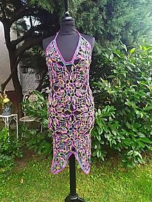 Šaty - Letné háčkované šaty, Farebná láska - 13605508_