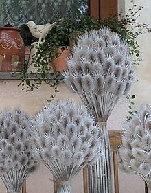 Dekorácie - Kytica z bodliakov s dlhými stopkami - 13608623_