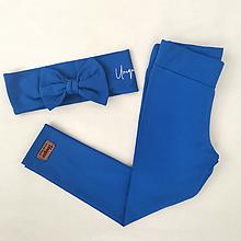 Detské oblečenie - Legíny RIA kráľovská modrá - 13608560_