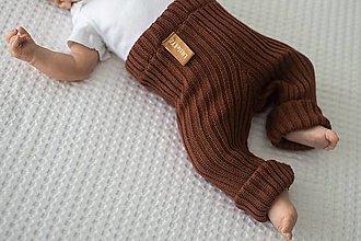 Detské oblečenie - Baby kamaše, veľ. 56-140, OEKO-TEX®, tmavohnedé (56 - 68) - 13607543_