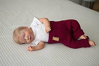 Detské oblečenie - Baby kamaše, veľ. 56-140, OEKO-TEX®, vínové - 13607554_