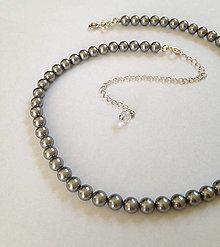 Náhrdelníky - strieborný náhrdelník perlový - 13607274_
