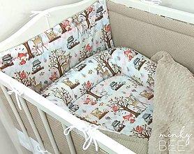Textil - Sada zvieratká v lese - 13608375_