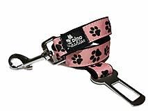 Pre zvieratá - Pás pre psa do auta Čierna labka na ružovej - 13609006_