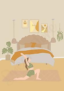 """Grafika - Ilustrácia """"Hygge Yoga II."""" - 13608213_"""