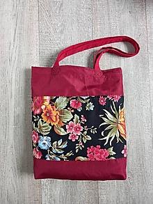 Nákupné tašky - Nákupná taška s kvetmi - 13607156_