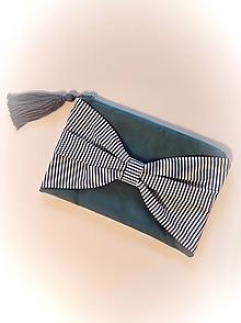 Kabelky - Taštička s mašľou - 13608046_