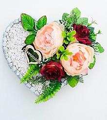 Dekorácie - Spomienkové srdce - 13608077_