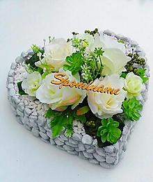 Dekorácie - Spomienkové srdce - 13608106_