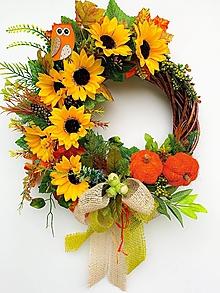 Dekorácie - Jesenný veniec-dotyk jesene - 13608756_