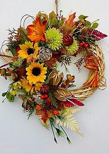 Dekorácie - Jesenný veniec-čaro jesene - 13608797_