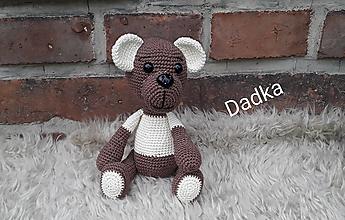 Hračky - Hačkovaný medvedík - 13608724_