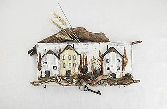 Nábytok - Vešiak na kľúče ,,Krajina tieňov,, - 13610771_