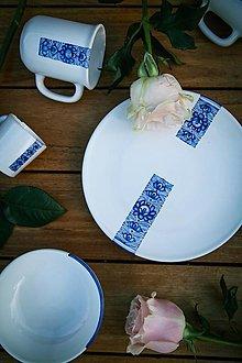 Nádoby - Plytký tanier SKRATKY - 13610281_