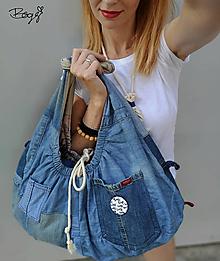 Kabelky - velká recy kabelka, nákupní taška s náhrdelníkem - 13610455_