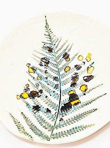 Nádoby - Misy Papradie (26,5x4,5cm - Tyrkysová) - 13611643_