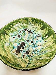 Nádoby - Misy Papradie (29x4,5 cm - Zelená) - 13611665_