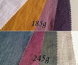 Textil - Vzorky mäkčeného ľanu - 13610315_