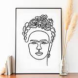"""Grafika - Jednolíniová grafika """"Frida"""" - 13612427_"""