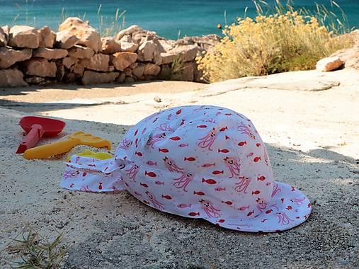 Letný detský šilt veselé medúzy