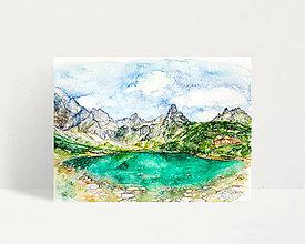 """Obrazy - Fine Art Print """"Zelené pleso"""" - 13613861_"""