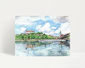 """Obrazy - Fine Art Print """"Dunajské nábrežie"""" - 13614066_"""