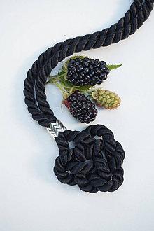 Náhrdelníky - Uzlový náhrdelník čierny - 13614004_
