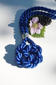 Náhrdelníky - Uzlový náhrdelník modrý - 13614028_