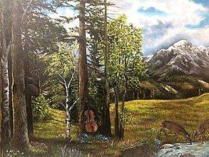 Obrazy - V lese - 13613279_