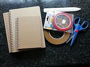 Nástroje - sada na výrobu zápisníkov - 13613655_