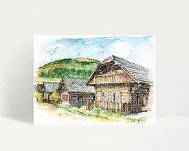 "Obrazy - Fine Art Print ""Čičmany"" - 13614407_"