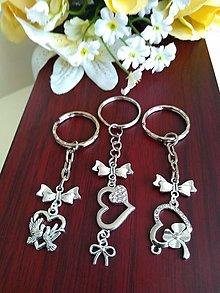 Kľúčenky - Kľúčenky  (srdiečko so štrasom) - 13615071_