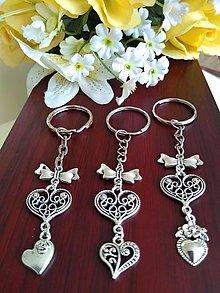 Kľúčenky - Kľúčenky  (srdiečko s mašličkou) - 13615072_