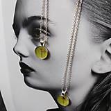 Náhrdelníky - Kvetový púčik strieborný náhrdelník - yellow - 13615637_