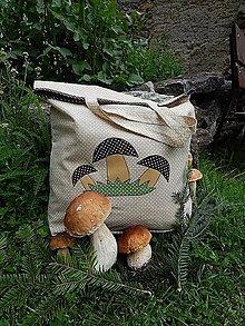 Nákupné tašky - Nákupná taška - tri hríbiky - 13616321_