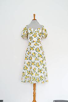 Šaty - Korzetové šaty s puffy rukávikmi z kvetinovej organzy (upcy) - 13616323_