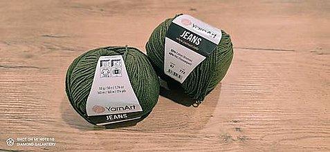 Galantéria - Yarn Art - Jeans (82 lesná zelená) - 13617080_