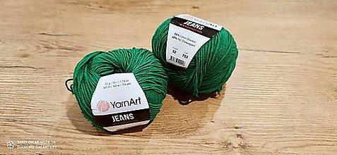 Galantéria - Yarn Art - Jeans (52 zelená) - 13617081_