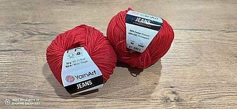Galantéria - Yarn Art - Jeans (90 červená) - 13617092_
