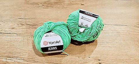 Galantéria - Yarn Art - Jeans (60 zelená) - 13617093_