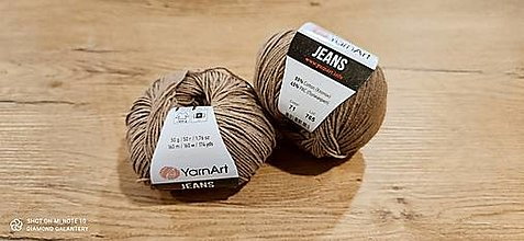 Galantéria - Yarn Art - Jeans (71 svetlohnedá) - 13617094_