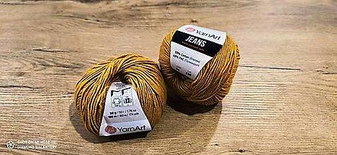 Galantéria - Yarn Art - Jeans (84 horčicová) - 13617095_