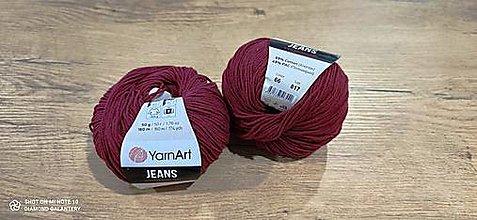 Galantéria - Yarn Art - Jeans (66 bordovo červená) - 13617098_