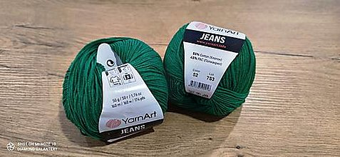 Galantéria - Yarn Art - Jeans (52 - Jedľovo zelená) - 13617099_