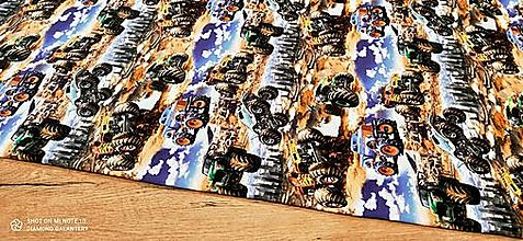 Textil - Teplákovina - cena za 10 centimetrov (Monstertruck) - 13619674_